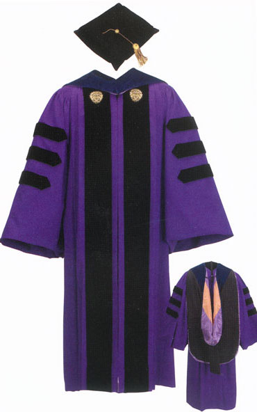 Traditionally or depending on  where you go to law school. your commencement or graduation regalia would have purple on it.
