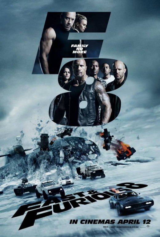 Fast and Furious 8 the latest movie I have seen in theaters and an amazing one at that