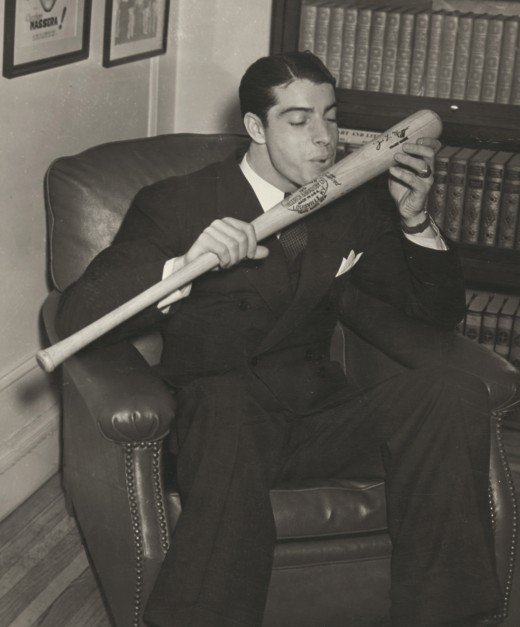 Maybe his intimate relationship with his bat helps explain DiMaggio's hitting ability.