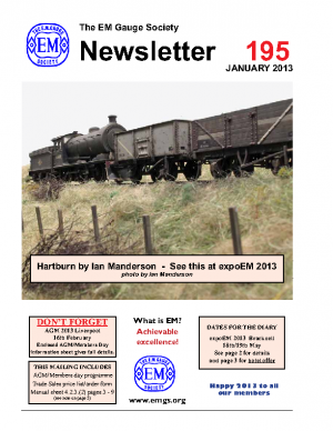 And here's the cover of one of their newsletters, a convincing view you'll agree -Hartburn, based on a County Durham location that features the Dave Bradwell J27 (seen here with a rake of mineral wagons)