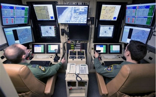 British pilots flying drones from their control station
