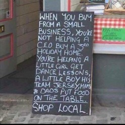 Buying Local to Support Your Town