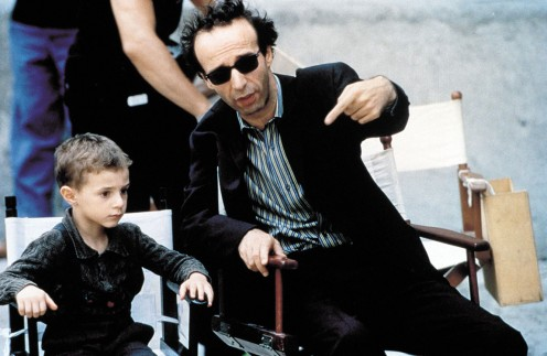 Cantarini and Benigni at the shooting