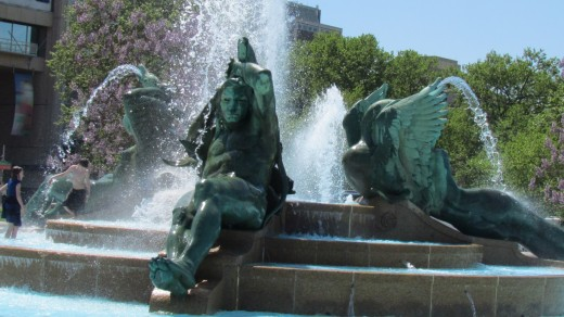 The beautiful Swann Memorial Fountain that was located near the NFL Drafts, in Philadelphia, Pa.