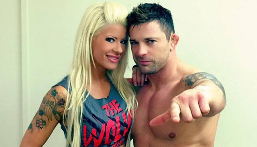 Angelina Love and Davey Richards