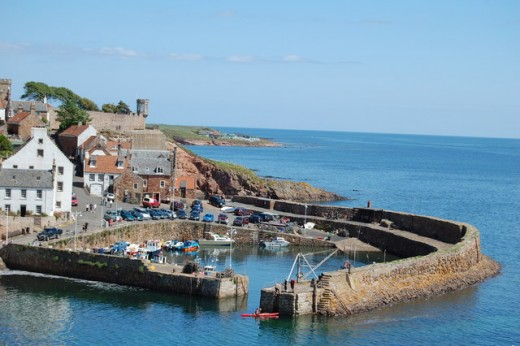 Picturesque photograph of Crail and the  villages harbour.