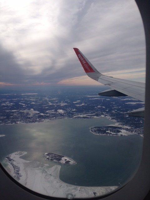 View from my window after taking off from Boston!