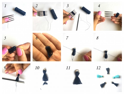Steps to make the Tassel