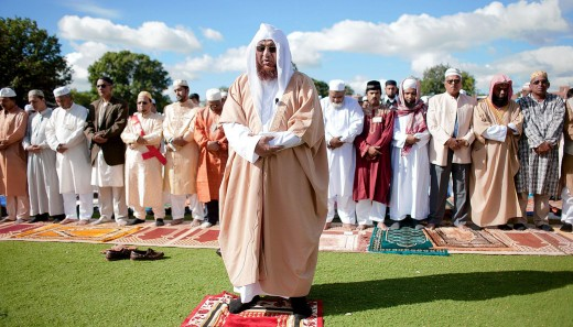 Muslims in Jamaica praying Eid prayer for the holidays.