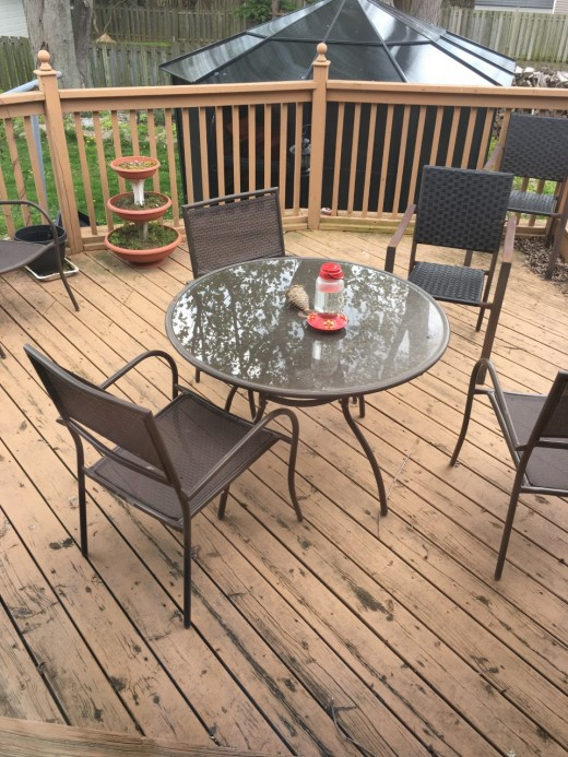 The Deck of my new house  where I spend a lot of my time in the summer
