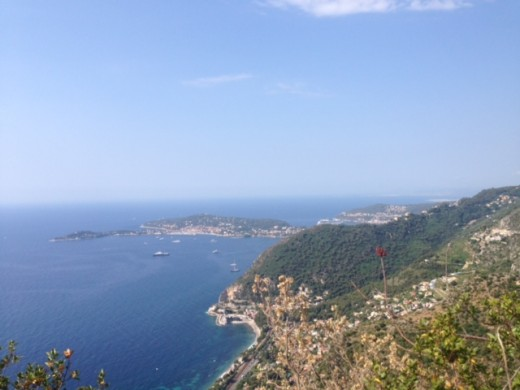 The Mediterranean Sea from a hillside in Southern France!