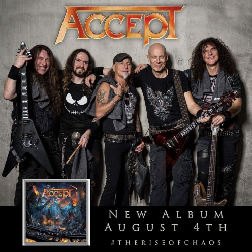 "German Metal Legends, Accept, Release ""The Rise Of Chaos"""