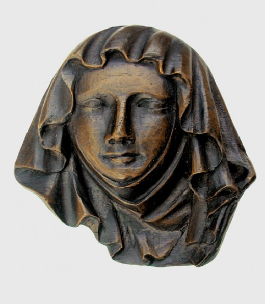 Wood carving of a noblewoman, thought to be Gytha