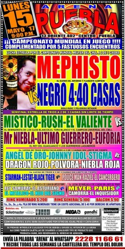 Dr. Puebla: Or How I Learned to Motivate Myself to Write Tonight's CMLL Running Diary