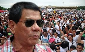 Hordes of passionate Filipinos rallying for Duterte as their leader.