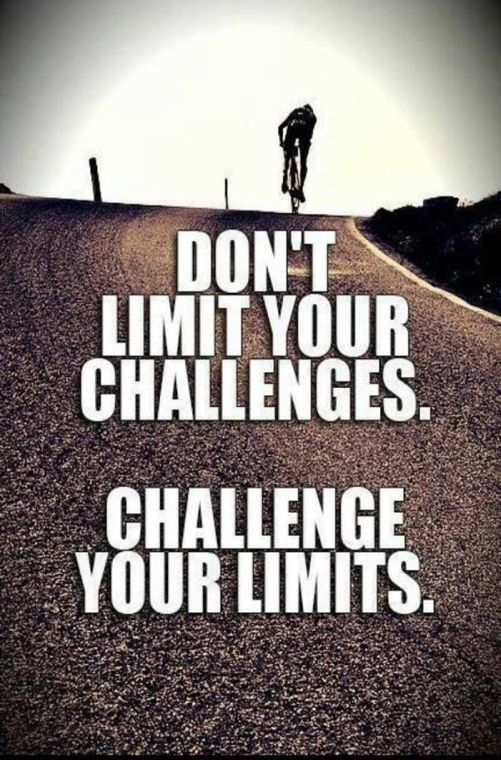 Don't Limit yourself because of your challenges