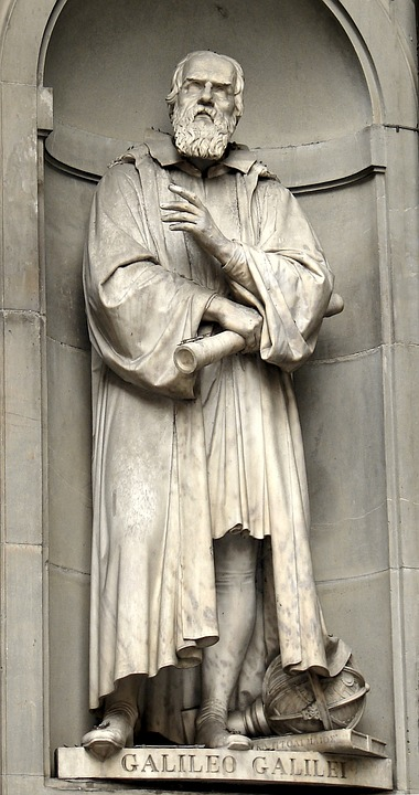 Statue of Galileo Galilei in Florence, Italy.  Galileo was the first astronomer to view the planet through a telescope.  He first observed it in 1609.