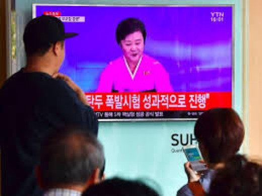The main channel airs in the evening and North Korea's only other two television channels only come on during the weekends.