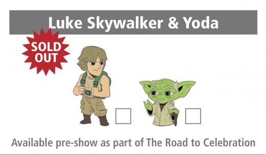 Luke Skywalker and Yoda pins from Star Wars Celebration 2017