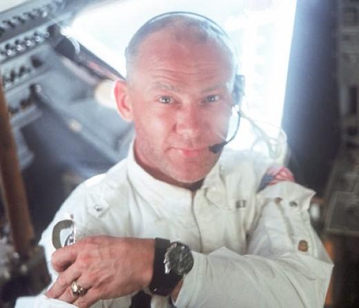 1969: Apollo 11 Lunar Module Pilot Buzz Aldrin.
