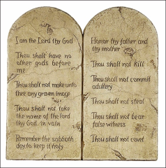 The 10 Commandments.  The very first 2, deal with idolatry.