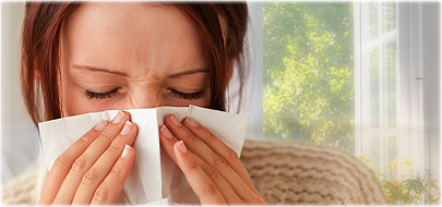Allergies can come  at any time of year