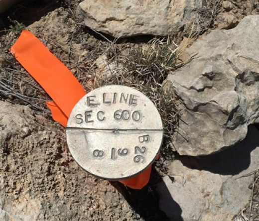 Marker from land survey completed April 26, 2017 (Image courtesy of MMEX Resources Corporation)