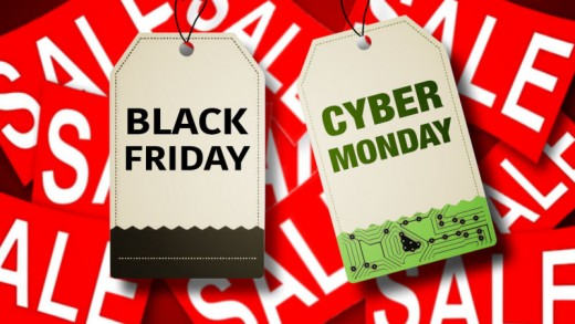 The Cyber Monday and Black Friday tags you would see when things are on sale.