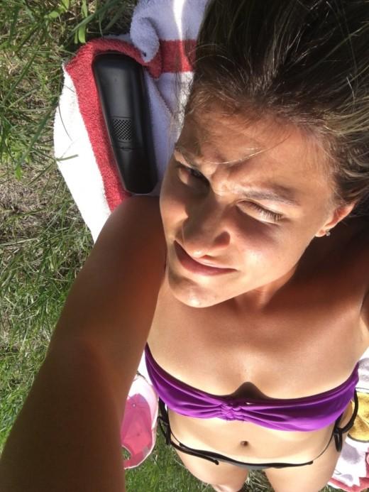 Basking in the summer sun last year