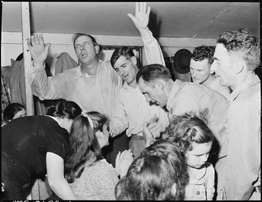 In those old churches, praying around the altar was a high point of the worship service.