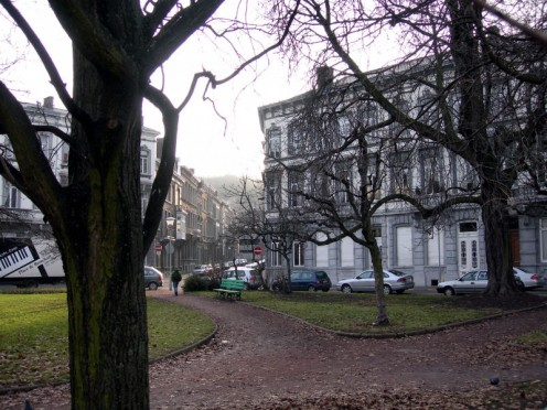 Place de Bronckart, Liege Guillemins (Belgium).