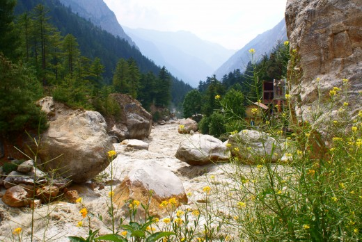 Ganga at Gangotri: Downstream view