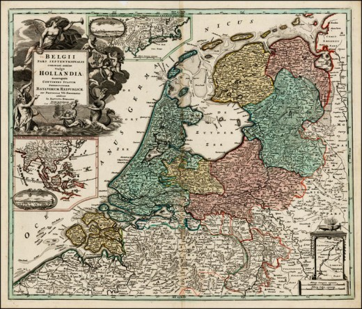 The Dutch Republic, the government that ruled the Netherlands for much of this epoch.