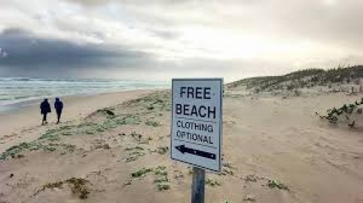On nude beaches you have a choice on what to wear or whether to wear any articles of clothing at all.