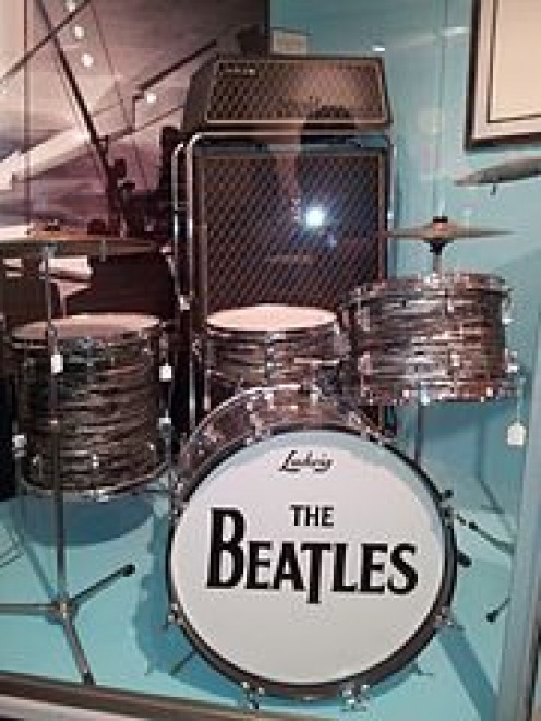 Original Beatles museum set-up  along with the VOX in the background.