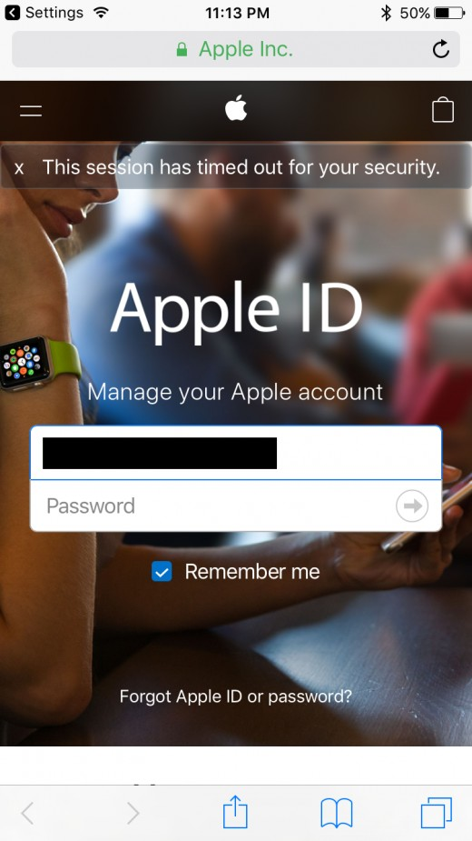 Enter your Apple ID username and password.