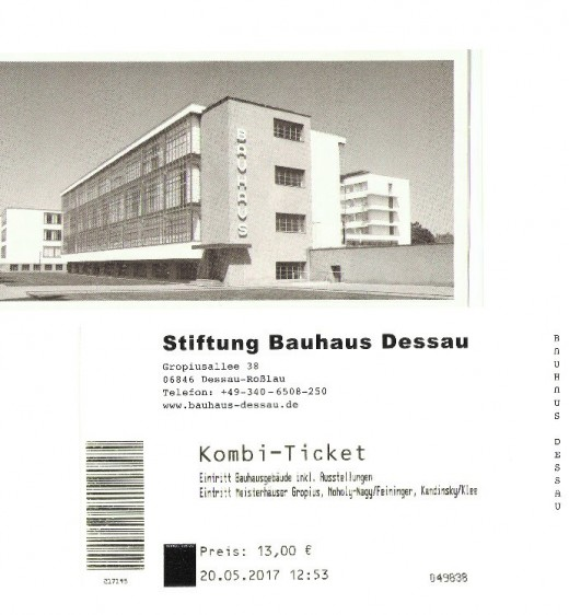 The beautiful ticket is worthy of the Bauhaus. Simple, slick and certainly not to be creased in a handbag