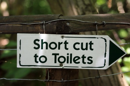 You will definitely need shortcuts to visit the washroom!