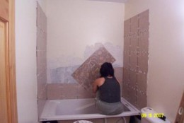 Installing wall tile (a different wall)