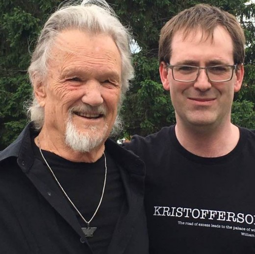 Lisa Kristofferson took this photo of Kris and Maxi.