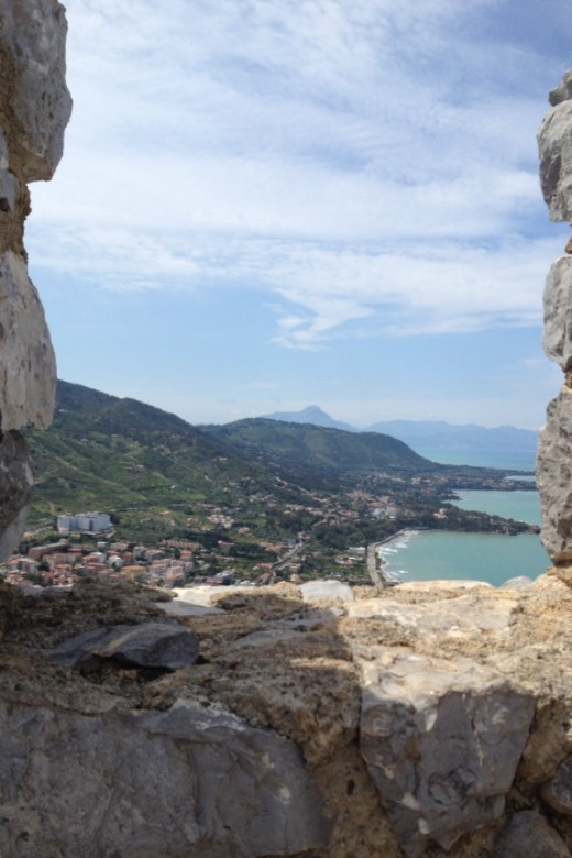 View From the Rocca Above Cefalu