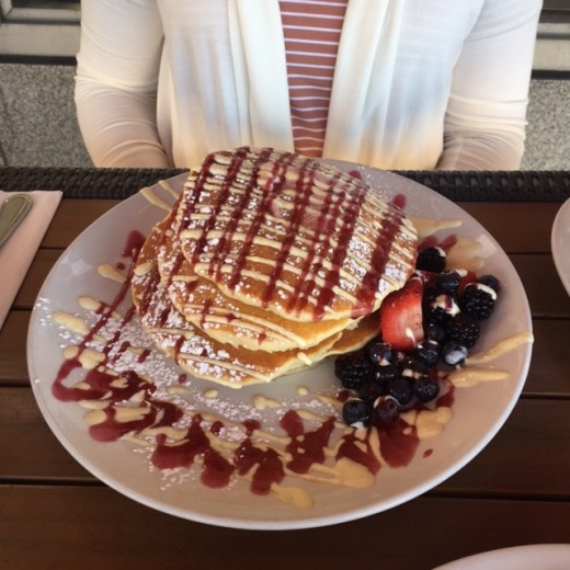 """Signature Berry Bliss"" pancakes from Wildberry Cafe"