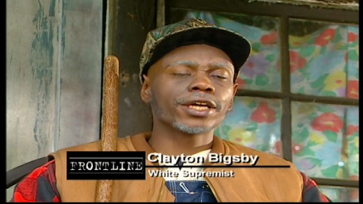 The infamous black white supremacist Clayton Bigsby, played by Dave Chappelle. Image copyright of Comedy Partners.