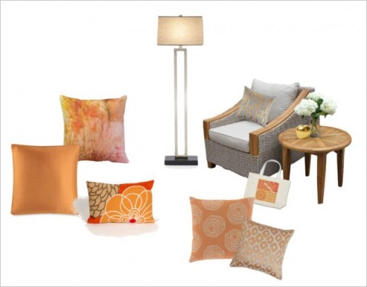 Lovely peach cushions for your living room or bedroom.