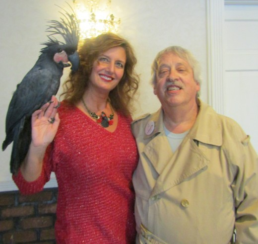 """Hank asks AFA NE Chair Concetta Ferragamo and """"Pet Gazette"""" correspondent George Sommers if they know the number for Dial a Chick."""