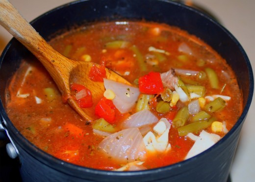 Eat Soup in the winter you will stay warm and healthy if you eat it