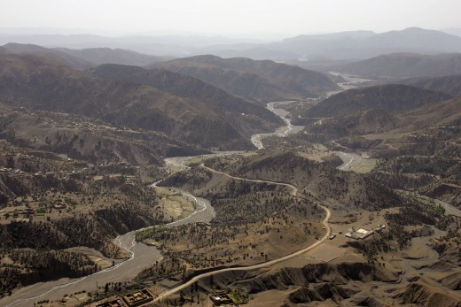 An aerial view of South Waziristan.