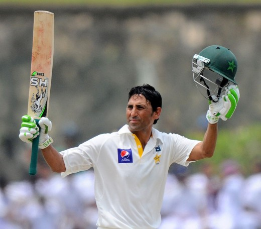 Younis Khan after scoring a century!