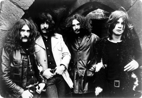 A photo of Black Sabbath from 1970. From left to right are: Geezer Butler, Tony Iommi, Bill Ward, and Ozzy Osbourne.