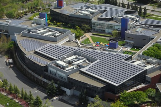 Google has already invested in solar power at their Google Headquarters